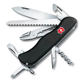 Нож Victorinox 0.9033.3 Atlas солдатский с фиксатором, 111мм, черный
