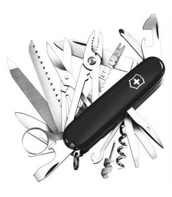 Нож Victorinox 1.6795.3 SwissСhamp, 91мм, черный