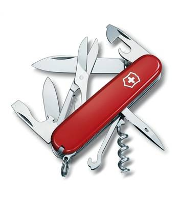 Нож Victorinox 1.3703 Climber офицерский, 91мм, красный