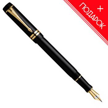 Перьевая ручка F74 Parker Duofold International Black GT(S0690410F)