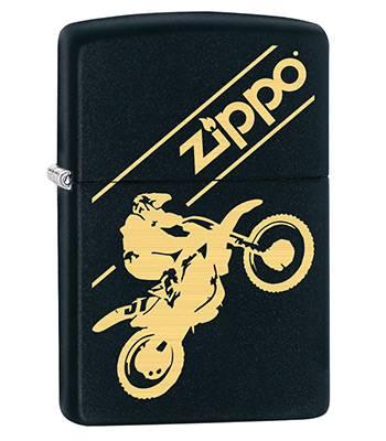 Зажигалка Zippo 29528 Moto Cross Black Matte