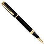 Перьевая ручка Waterman Exception Slim Black GT (S0636930 F, S0636940 M)
