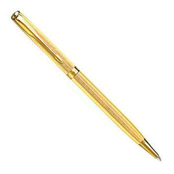 яParker Sonnet Slim  K432 Chiselled Golden GTшариковая ручка R0808220,R0788940