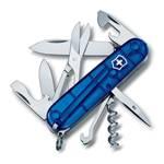 Нож Victorinox 1.3703.T2 Climber офицерский, 91мм, прозрачный синий