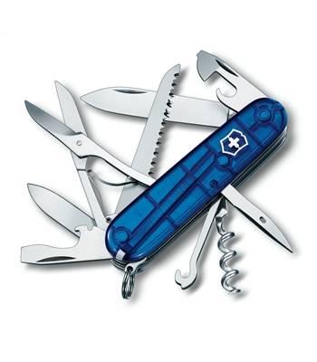 Нож Victorinox 1.3713.T2 Huntsman офицерский, 91мм, прозрачный синий