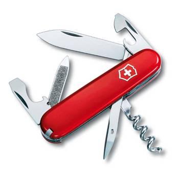 Нож Victorinox 0.3802 Sportsman офицерский, 84мм, красный