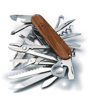 Нож Victorinox 1.6794.69 SwissСhamp, 91мм, натур.лиственница