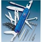 Нож Victorinox 1.7725.T2 CyberTool 34, 91мм, прозр.синий