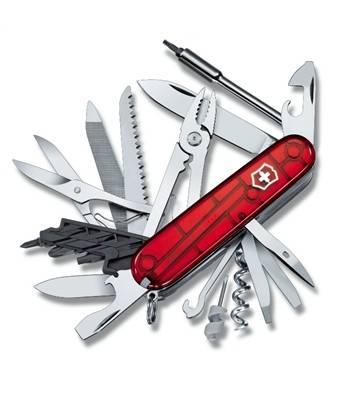 Нож Victorinox 1.7775.T CyberTool 41, 91мм, прозр.красный