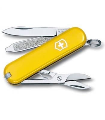 Нож-брелок Victorinox 0.6223.8 Classic, 58мм, желтый