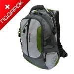"""Рюкзак Wenger 15914415 """"Large volume daypack"""" серый/зеленый с отд. для ноутбука15"""" 36x26x50cm (35л)"""