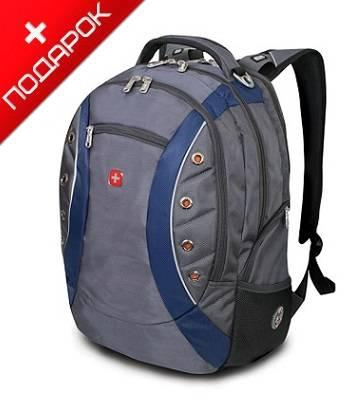 """Рюкзак Wenger 1191315 """"Zoom"""" синий/серый с отделением для ноутбука 15"""" 36x21x47cm (32л)"""