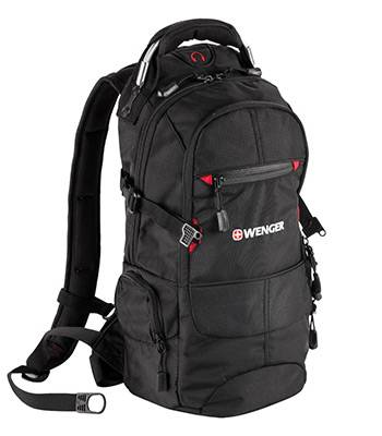 "Рюкзак Wenger 13022215 ""Narrow hiking pack"" черный 47х23х18см (19л)"