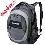 """Рюкзак Wenger 12674415 """"School pack"""" серый/серебр/зеленый 36х17х48см"""
