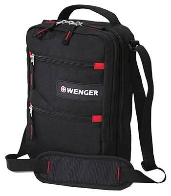 """Сумка Wenger 18262166 """"Mini Vertical boarding bag"""" черный/красный 21х28х9см"""