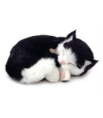 """Игрушка дышащая Perfect Petzzz XP92-06 """"Котенок Короткошерстный черн-белый с дыханием"""""""