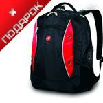 Рюкзак Wenger 11912115 для ноутбука черный/красный 34х19х46 см