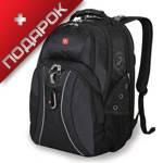 """Рюкзак Wenger 12704215 серый/черный, с отделением для ноутбука 15"""" 34х23х47 см (30л)"""