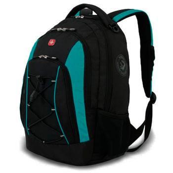 """Рюкзак Wenger 11862315-2 черный/синий с отд для ноутбука15"""" 33х19х45см (28л)со светоотражающ. элемен"""