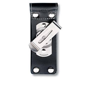 Чехол на ремень Victorinox (для ножа 111мм) 4.0523.31 (толщиной 1-3 уровня, кожаный чёрный с клипом)