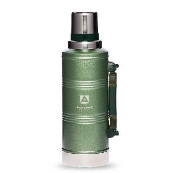 Термос Арктика с узким горлом 106-2200Р (американский дизайн, зелёный, с ручкой, 2200 мл)