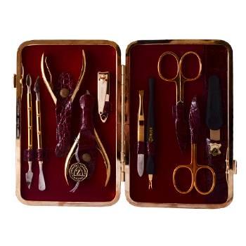 Маникюрный набор профессиональный Zinger zMSFC 804-G с клиппером(10 предметов)