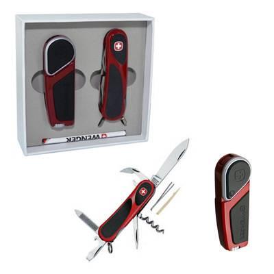Wenger Подарочный набор WS18.10.85 красный (нож EvoGrip 1.10.09.821+зажигалка WL18.01 Hydor газовая)