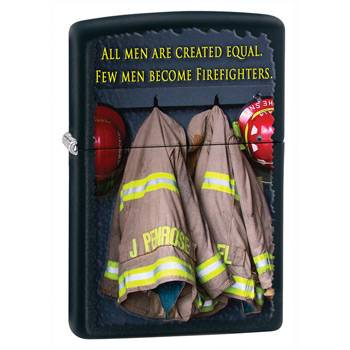 Зажигалка Zippo 28316 Fireman Coats Black Matte