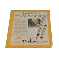 "Статья ""PUCCINI. Wrote his greatest Operas with a Parker Pen"",из журнала за 1931г,23,5х17,5см,арт. 7"