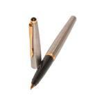 Перьевая ручка Parker 45, 2004г., перо М, позолоченное, + конвектор, арт. 17