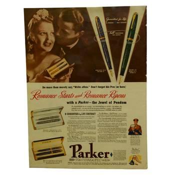 "Статья ""Romance Starts and Romance Ripens"", ориг., из журнала за 1941г., 26,5х35,5см, арт.8"