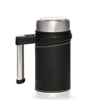 Термос-кружка Арктика 406-500 чёрная (с ручкой, + ситечко, 500мл)