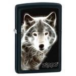 Зажигалка Zippo 28303 White Wolf Black Matte