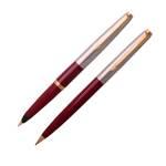 Набор Parker 45: перьевая ручка + карандаш, 1970-е гг., перо М, позолоченное,  арт. 67-1