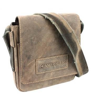 """Кожаная сумка-планшет Wenger W16-01 """"STONEHIDE"""", коричневый, кожа, 23х7x24 см"""