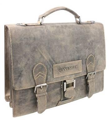 """Кожаный портфель Wenger W16-11 """"STONEHIDE"""", коричневый 38x14x33см"""
