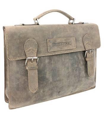 """Кожаный портфель Wenger W16-12 """"STONEHIDE"""", коричневый 39x5x30 см"""