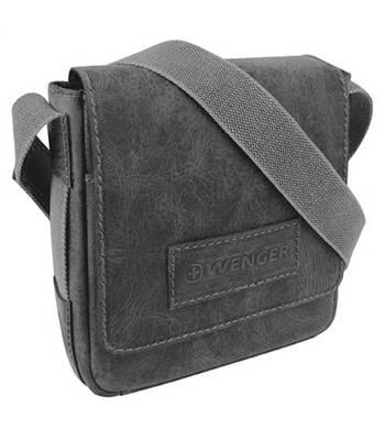 """Кожаная сумка-планшет Wenger W23-03Bl """"ARIZONA"""", черный, 23х7x24  см"""