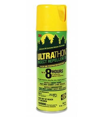 яАэрозоль UltraThon SRA-12 для защиты от клещей, мошки и комаров, 170 г.