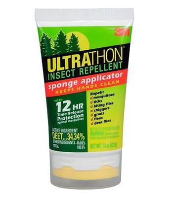 яЛосьон UltraThon SRL-12HF для защиты от клещей, мошки и комаров с поролон. аппликатором, 42 г.