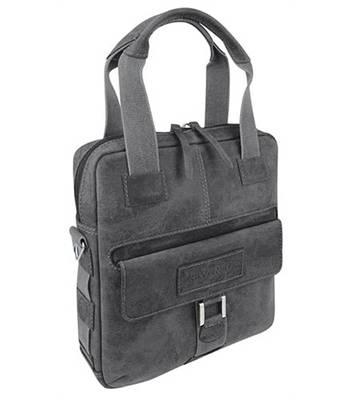 """Кожаная сумка вертикальная Wenger W23-04Bl """"ARIZONA"""", черный, 35x9x37 см"""