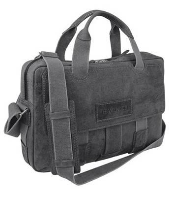 """яКожаный портфель на молнии Wenger W23-06Bl """"ARIZONA"""", черный, 44x10x33 см"""