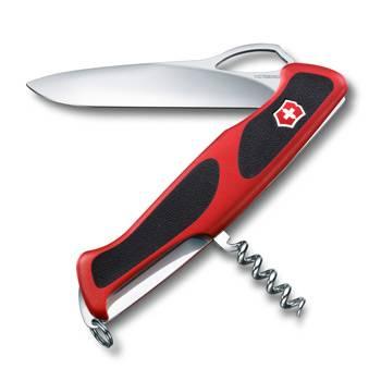Нож Victorinox RangerGrip 63 (арт. 0.9523.MC, 130мм 5 функций красно-чёрный)
