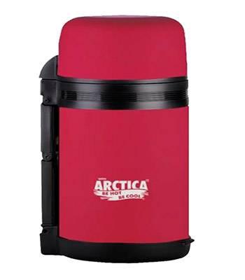 Термос Арктика с широким горлом 203-800 (универсальный, с резин. напылением, красный 800 мл)