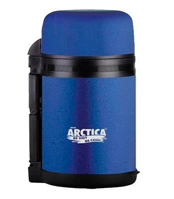 Термос Арктика с широким горлом 203-800 (универсальный, с резин. напылением, синий 800 мл)