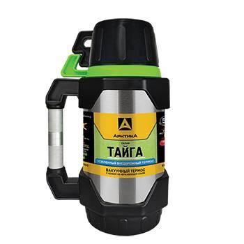 Термос Арктика с узким горлом 110-1500 ARCTICA TAIGA (с доп. чашкой и контейн. для чая, 1500мл)