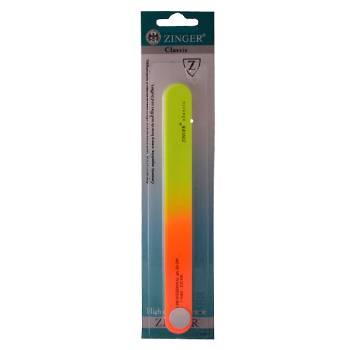"""Пилка наждачная """"Zinger"""" zo-EJ-205 (2-х сторонняя, 120/180, жёлто-оранж., длина 18 см)"""