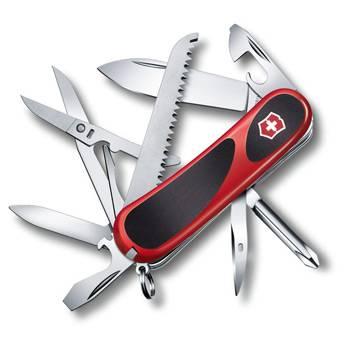 Нож Victorinox 2.4913.C EvoGrip 18 (85мм 15 функций, красный с чёрными вставками)