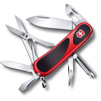 Нож Victorinox 2.4903.C EvoGrip 16 (85мм 14 функций, красный с чёрными вставками)