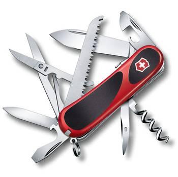 Нож Victorinox 2.3913.SC EvoGrip S17 (85мм 15 функций, красный с чёрными вставками, spring lock)